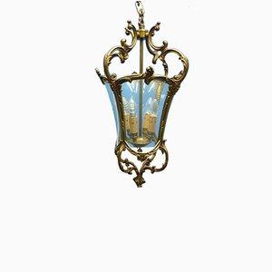 Lámpara de techo Mid-Century de latón