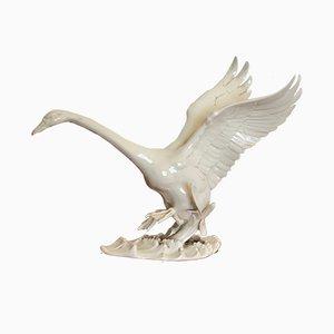 Vintage German Swan Sculpture form Hutschenreuther Selb