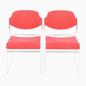 Dänische Esszimmerstühle aus Metall, 1960er, 2er Set