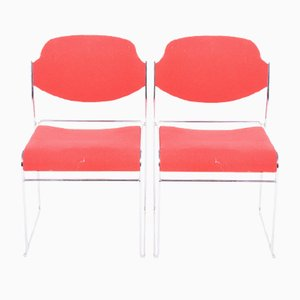 Danish Metal Dining Chairs, 1960s, Set of 2