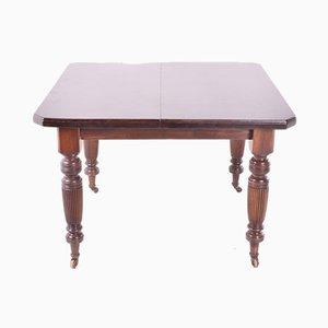 Antique English Hand-Crank Mahogany Dining Table