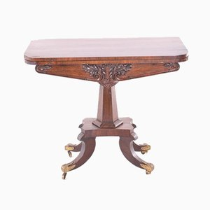 Antique Empire Style English Game Table