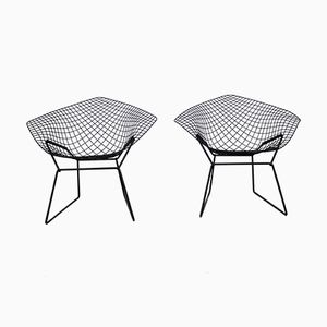 Vintage Diamond Lounge Chairs by Harry Bertoia for Knoll International, Set of 2