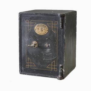 Antiker Tresor aus Eisen von Samuel Withers
