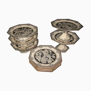 Victorian English Monochrome Dessert Set from William Brownfield & Sons, 1881