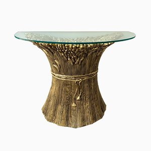 Italian Gilt Ceramic Console from Panzeri, 1980s
