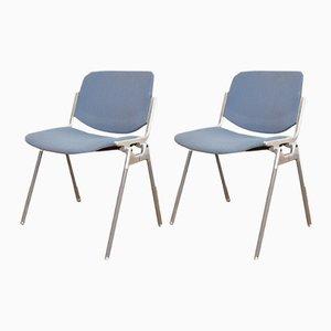 Mid-Century DSC 106 Stühle von Giancarlo Piretti für Castelli, 1960er, 2er Set
