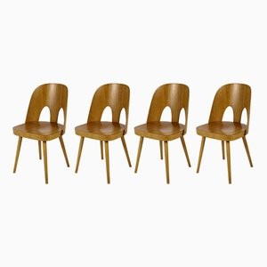 Wooden Chairs by Oswald Haerdtl for TON, 1960s, Set of 4