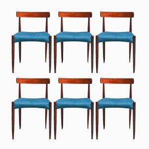 Vintage Esszimmerstühle von Mogens Kold, 1960er, 6er Set