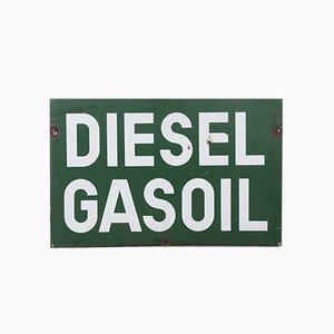 Vintage Double-Sided Enamel Diesel Sign