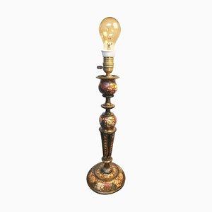 Lámpara de mesa vintage de papel maché