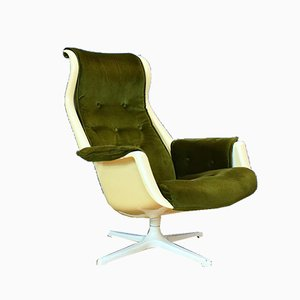 Mid-Century Swedish Galaxy Swivel Lounge Chair by Alf Svensson for DUX