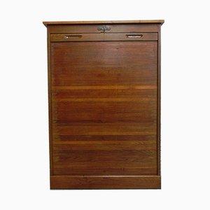 Wide Vintage Roller Shutter Cabinet