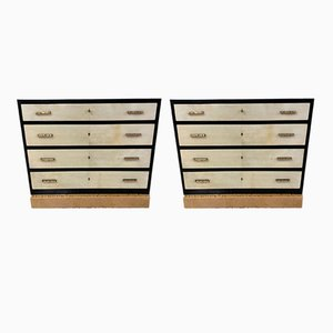 Italian Art Deco Chests of Drawers, 1930s, Set of 2