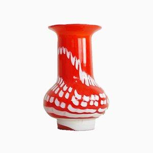 Rote italienische Vase im Murano-Stil, 1960er