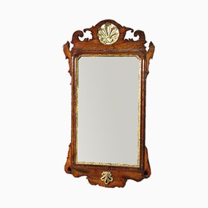 Italienischer Vintage Spiegel mit Rahmen aus geschnitztem Nussholz