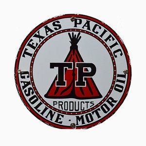 Emailliertes Vintage Texas Pacific Schild