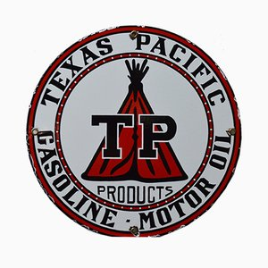 Vintage Enamelled Texas Pacific Sign