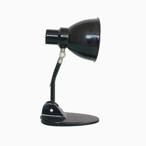 Schwarze italienische Eisenlampe, 1940er