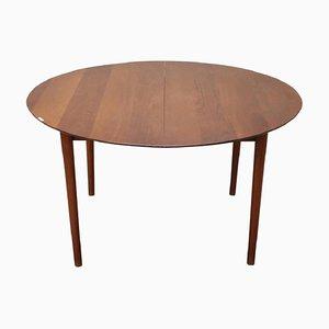 Mesa de comedor de teca de Peter Hvidt para Søborg, años 50