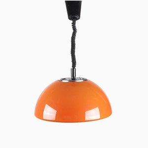 Lámpara colgante de acrílico con altura regulable de Guzzini, años 60