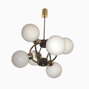Lámpara colgante en forma de átomo, años 60