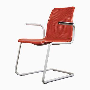 Orangene Vintage Stühle von Mauser, 1970er, 2er Set