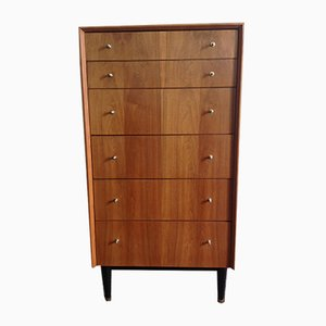 Walnut Veneered Chest of Six Drawers from G-Plan, 1960s