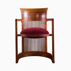 Vintage Barrel Chair by frank Lloyd Wright for Cassina