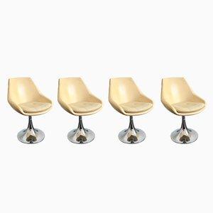Vintage Tulip Stühle, 4er Set