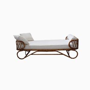 Sofá cama italiano Mid-Century de bambú