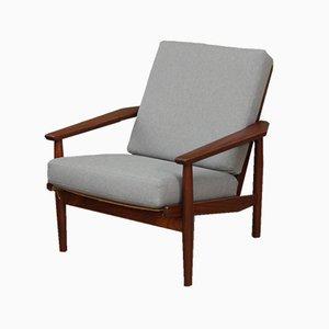Grauer niederländischer Mid-Century Sessel