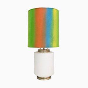 Lámpara de mesa italiana de vidrio de Stilnovo, años 60