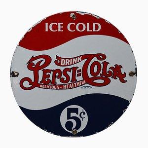 Emailliertes Vintage Pepsi Cola Schild