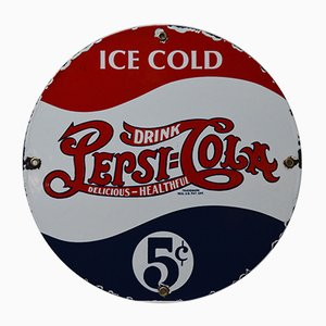 Vintage Enamelled Pepsi Cola Sign