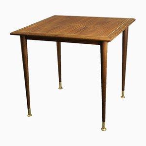 Table Basse Vintage en Teck et Laiton