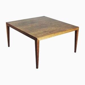 Tavolino da caffè grande in palissandro di Severin Hansen per Haslev Møbelfabrik, anni '60