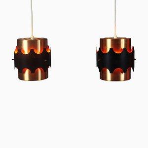 Danish Pendant Lamps, 1970s, Set of 2