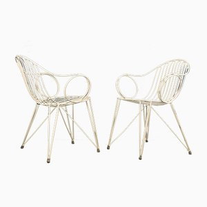 Vintage Garden Chairs from Mauser, 1950s, Set of 2
