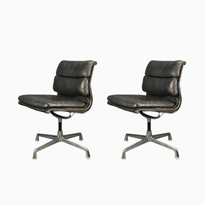 Vintage Model EA 205 Alu Chairs by Charles & Ray Eames for Vitra, Set of 2