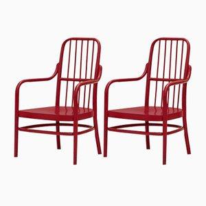 A63F Stühle von Adolf G. Schneck für Thonet, 1928, 2er Set
