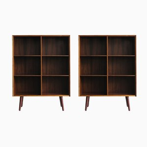 Scandinavian Rosewood Bookcases By Poul Hundevad 1960s Set Of 2