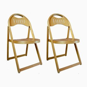 Vintage Modernist Folding Chairs, Set of 2