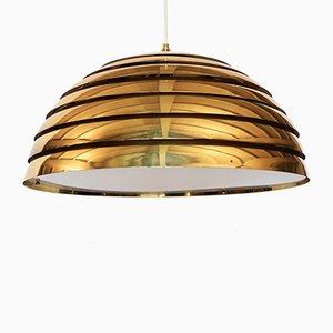 Lámpara colgante vintage de latón y plexiglás de Vereinigte Werkstätten Collection