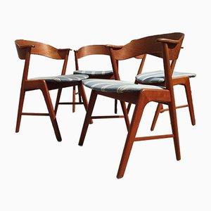 Sedia da pranzo nr. 32 vintage in teak di Kai Kristiansen per Shou Andersen, anni '60