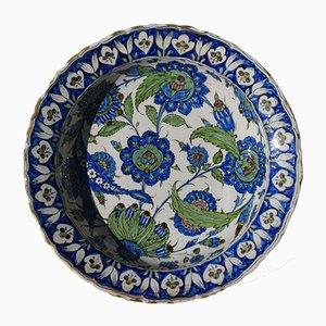 Große antike Iznik Keramikschale von Ulisse Cantagalli