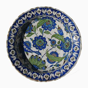 Large Antique Iznik Pottery Dish by Ulisse Cantagalli