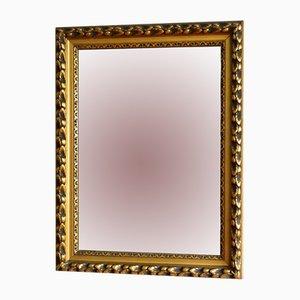 Großer antiker Spiegel mit goldenem Rahmen