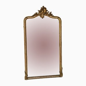 Large Victorian Gilt Wall Mirror, 1900s