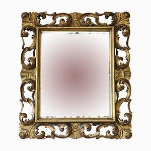 Miroir de Cheminée Doré, Italie, 19ème Siècle